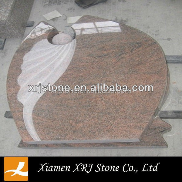 multi color red granite headstone,india headstone