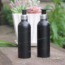 Best quality luxury black color pump shampoo bottle