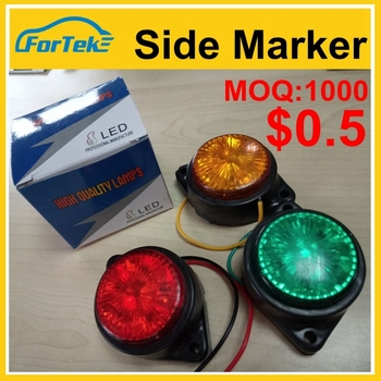 Christmas crazy big promotion 6led colorful side marker led truck light high quality