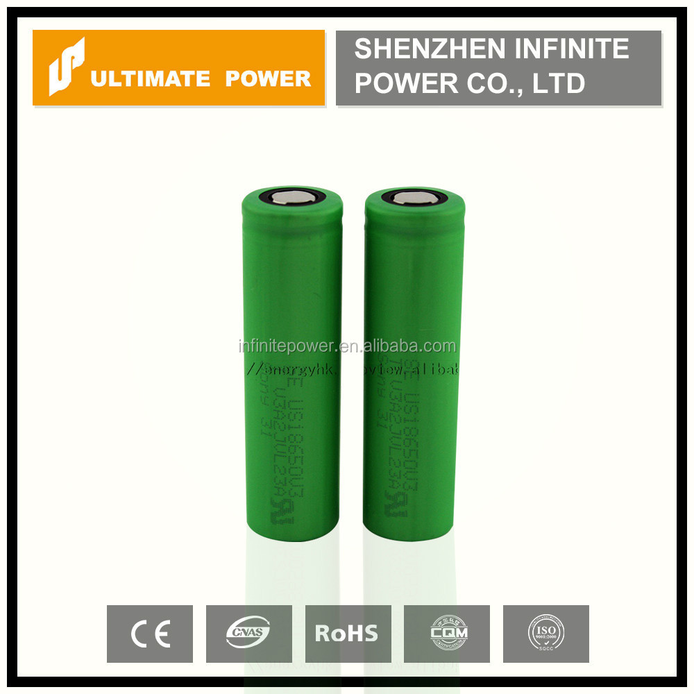 sony 18650 2200 mah 10a discharge rate Li Ion battery cell us18650v3