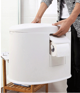 Indoor and Outdoor Upgraded Plastic Mobile Toilet