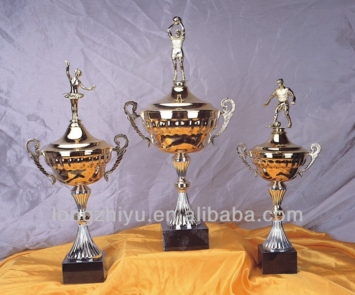 Cheap soccer cup trophy metal commemorate trinket metal decorations gift for championship