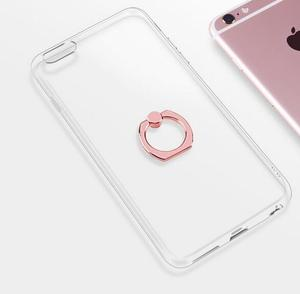 360 rotating transparent TPU finger ring holder mobile phone back cover case for iphone X 6 6s 7 8 plus