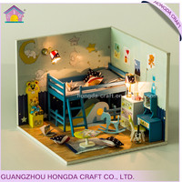 Supply to DIY parent-children handmade shop 3d house paper model diy dolls house kit
