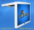"shockproof metal frame Flip down 17"" Inch vehicle coach bus monitor LCD signage video player"
