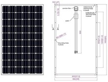 Mono PV module/cheap poly solar panel 100w 150w 200w 250w 300w for home solar systems
