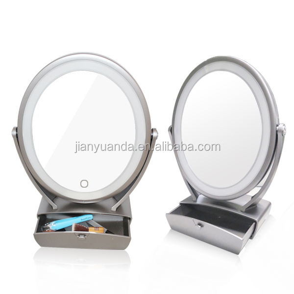 Usb Led Personalized Hotel Lighted Vanity Mirror With 5x Magnification - Buy Usb Led Mirror,Usb ...