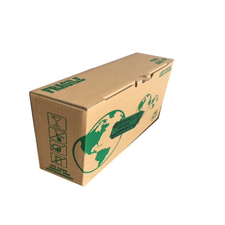 OEM made custom logo printed paper corrugated toner cartridge packing carton box
