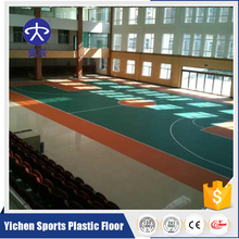 Low Price High Quality Removable 4.5mm Thickness PVC Indoor Badminton Court Litchi Flooring