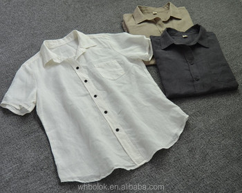 Fashionable oem wholesale ladies cotton/linen short sleeve summer shirt blouse