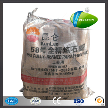 China solid slab and granular fully refined 54-66 DEG paraffin wax