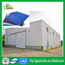 Representative roof tile in South America low cost building composite fire proof materials