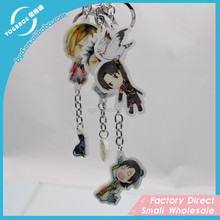 Custom clear plastic anime acrylic key ring