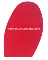 China Factory High Quality And Gute Price Red Color Rubber Half Sole For Shoe Repair
