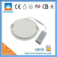 8 inch 40w solar wireless Dimmable driverless round tube outdoor led panel light