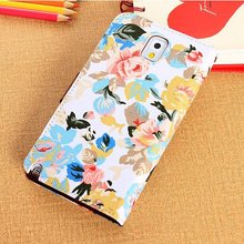 Printed Turn Around Leather Case Leather Phone Case for Samsung S5