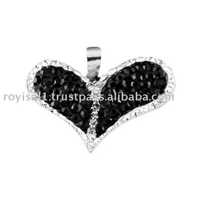 Crystal Edge Silver Pendant Lovely Heart Extreme