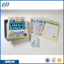 Custom printing bingo card game set for kids