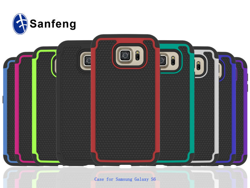 2015 hot selling Protector new products combo case for Samsung S6 G9200