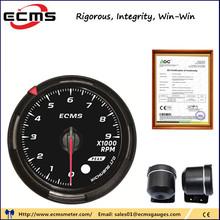 60MM Tachometer 0-9000 Rpm gauge Black Face with White&amp;Amber Lighting Car <strong>Meter</strong>