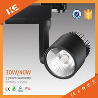 IKE cri 90 trade assurance black track light led 220v track light wholesale