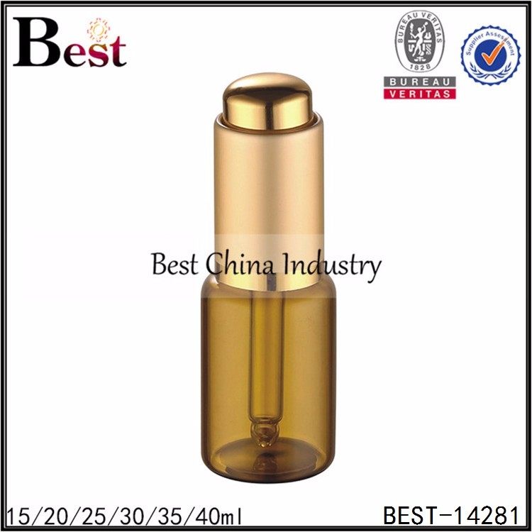 empty tube glass 3ml amber essential anointing oil bottle