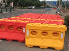 Plastic water filled safety road barrier / removable bollards