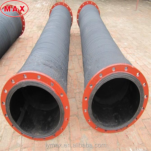 Flanged joint discharge rubber hose 500mm rubber hose pipe for dredging