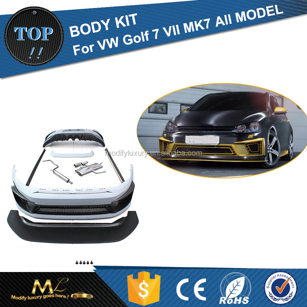 R400 Modify Luxury PU Bumper Kit R400 Body Kit for VW GOLF MK7 GTI R20