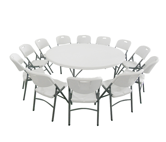 Wholesale Cheap price sale used outdoor garden stackable restaurant dining white plastic folding tables and chairs for party