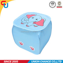 Polyester baby animal shape laundry hamper with elephant printing