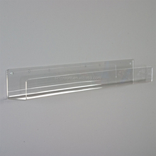 Wall Mounted Slatwall Clear Acrylic Book Shelf