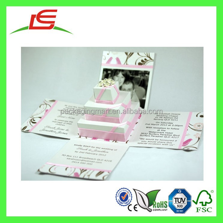 Q1150 Foldable Cheap Creative Wedding Door Gift Box, Exploding Box Kit Wholesale China
