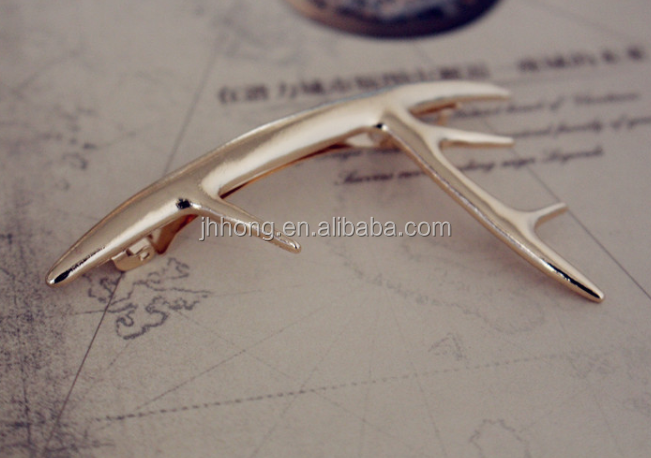 wholesale vintage Gold Hair Clip Charm Metal Hairpins For Women