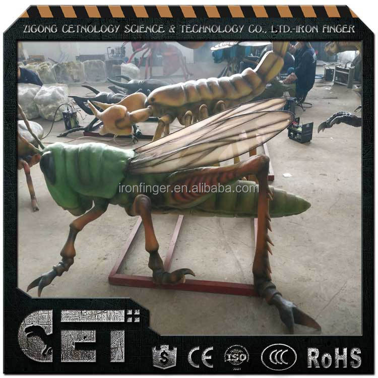 lifelike insects replica simulation robot animals animotronic grasshopper