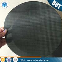 Plastic extruder screens dutch iron filter black wire filter mesh