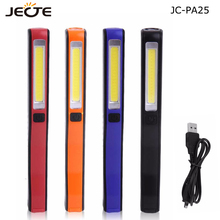 LED Flashlight COB Rechargeable Magnetic Pen Clip Hand Torch USB Charging Work Light For Camping Trekking Tactical Night Light