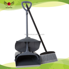 Hot selling popular design Household Cleaning Wind-proof Plastic Material Long Handle adjustable Broom And Dustpan Set