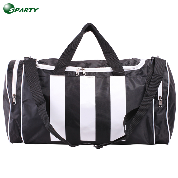 Promotion easy carry polyester duffel bag men sport travel bag