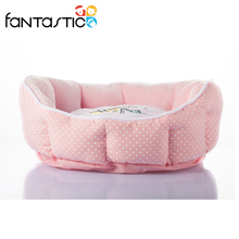 Hand-washable small MOQ round memory foam dog bed