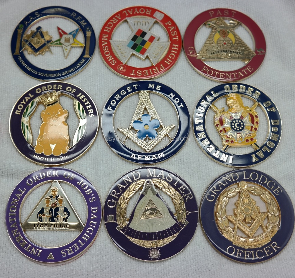 Hot sell car badge masonic car emblem badges auto emblems
