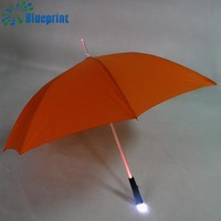 China wholesale led light umbrella with led light on handle and pole