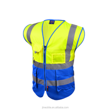 High Visibility Waterproof Protective Traffic Reflective vest safety