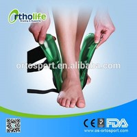 Wholesale custom size CE black plastic ankle brace