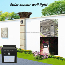 wireless solar 20led outdoor wall light with motion sensor