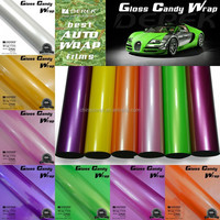2016 Modern Protection Gloss colorful Candy Car vinyl Stickers Air free Bubbles vinyl wrap film