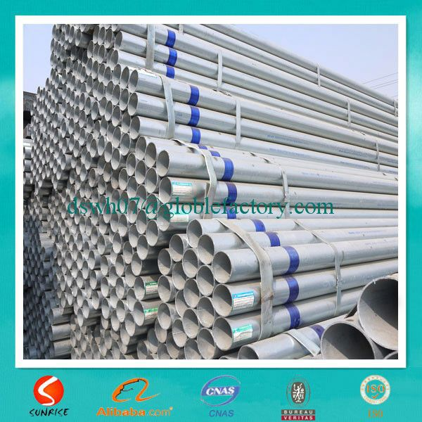 ASTM A 53 galvanized steel tubes/pre galvanized hollow section steel /galvanized welded steel