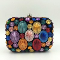 Elegant Hand Made Women Diamond Evening Bag (SQE1012)