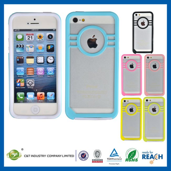 "C&T Hybrid protective skin case for iphone 5"" phones covers cases"
