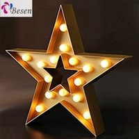 Popular Product Led White Color Light Battery Operated Mini For Cake Marquee Sign Star Shaped Rice Bulb Christma Decoration